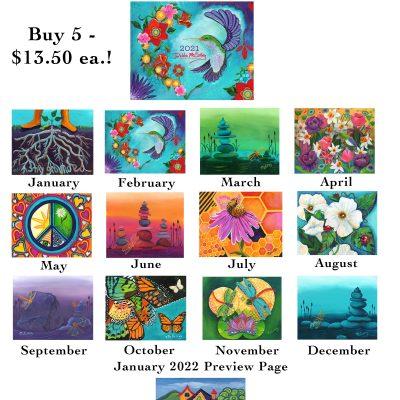2021 13-Month Art Calendar