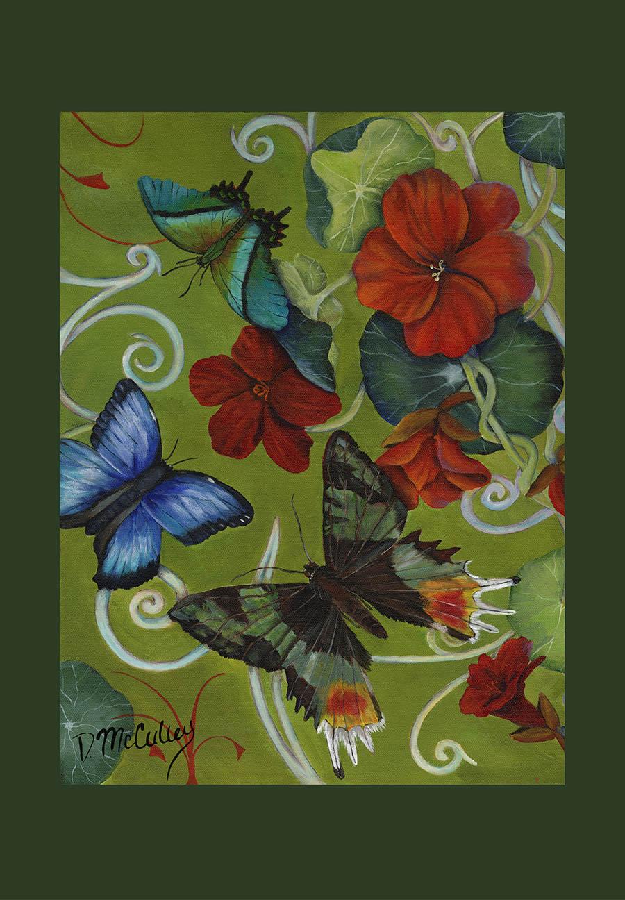 Garden Party - Garden & House Flags - Debbie McCulley, Artist