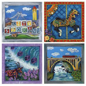 Spokane coasters-set