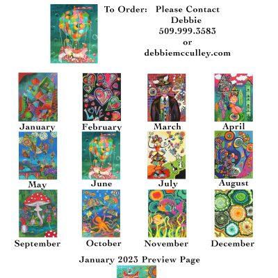 2022 13-month Art Calendar